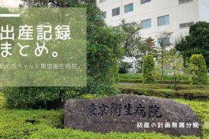 東京衛生病院での出産記録まとめ。