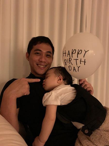 1歳の誕生日の祝い方。おやすみなさい。