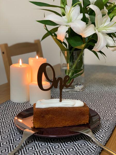 1歳の誕生日の祝い方。ケーキ。