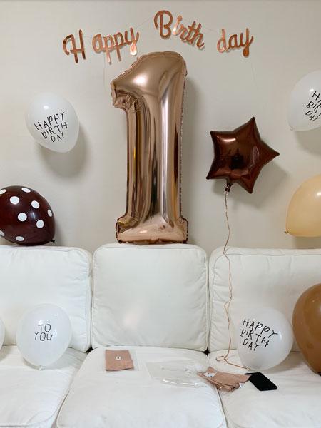 1歳の誕生日の祝い方。デコレーション。