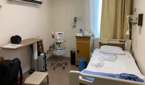 東京衛生病院の無痛分娩の記録。分娩予備室の様子。
