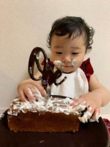 1歳の誕生日の祝い方。スマッシュケーキ。