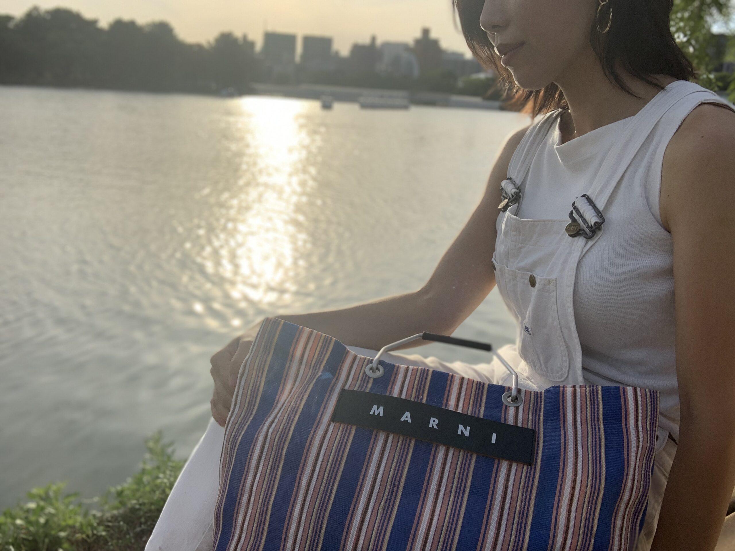 マルニのストライプバッグの再販情報